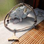 海モチーフのスライドネックレス